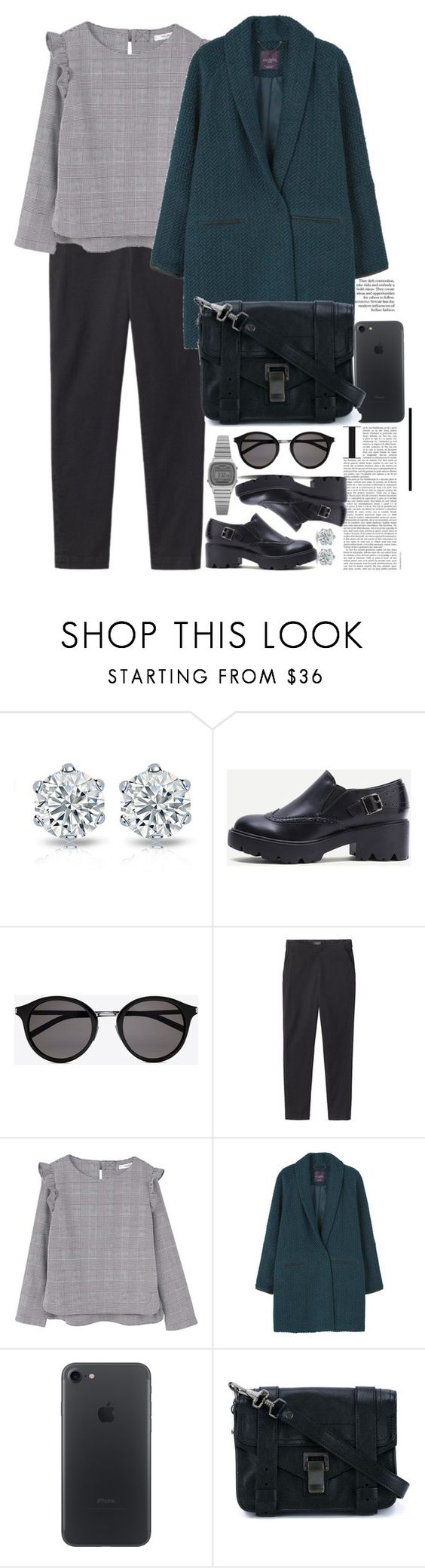 """""""Без названия #3425"""" by catelinota-a ❤ liked on Polyvore featuring Yves Saint Laurent, Toast, MANGO, Proenza Schouler and Casio"""