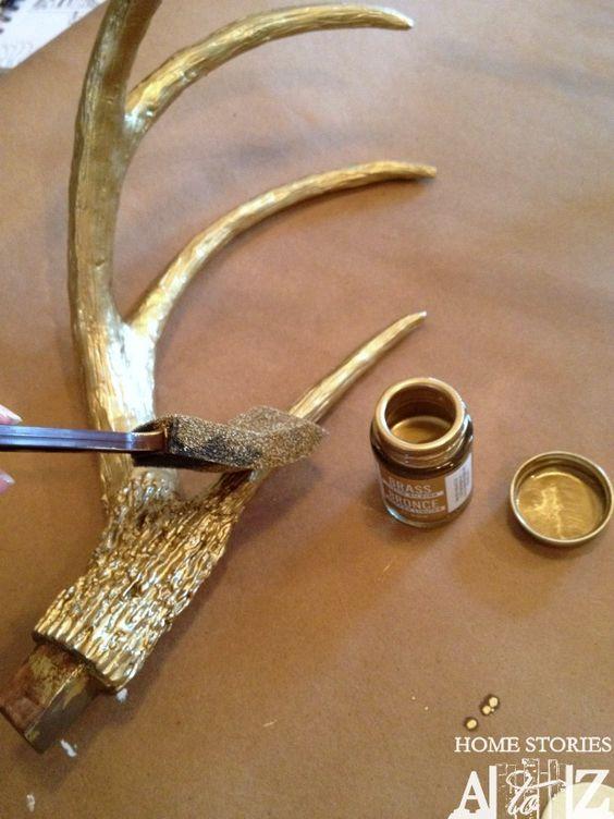 Diy faux deer head deer i am and wraps for Fake deer antlers for crafts