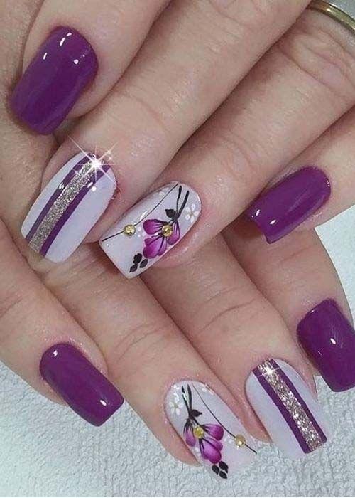 Diy Flower Nail Art Tutorial No Tools Nail Art Design Rose Pearl Stylish Nails Art Nail Art Designs Floral Nails