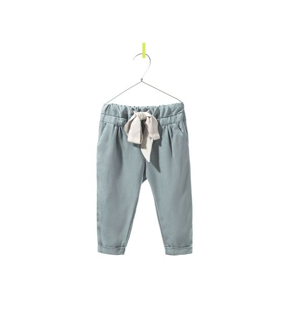 Image 1 of TROUSERS WITH BOW from Zara