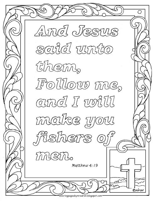 Matthew 4 19 Print And Color Page Follow Me And I Will Make You