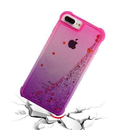 rouge pink glitter quicksand phone case