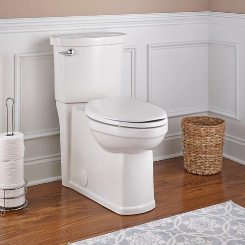American Standard Encompass Tall Elongated Concealed Trapway 1 6 Gpf Toilet With Lined Tank In White Toilet American Standard Fixer Upper