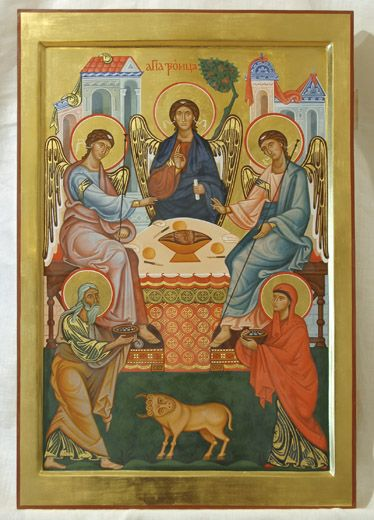 icon of the Holy Trinity | Icon of Hospitality Of Abraham And The Holy Trinity.