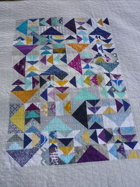 chezzetcook modern quilts: A Patch of Geese: A Finish