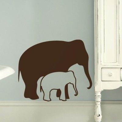 elephant wall decals - i want an African elephant on my bedroom wall.