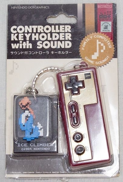 Famicom Controller Keyholder with Sound Ice climber JAPAN NES GAME KEY CHAIN