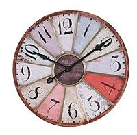 "29"" Round Multicolored Wedge Clock"