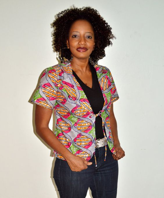 African Couture - Handmade African Wax Print Jacket, Shop Now Up To 70% Off  (http://www.africancouture.ca/handmade-african-wax-print-jacket/)