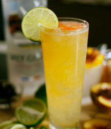 #Cherry #Vodka, Peach puree, and Lime juice make this a Summer hit.