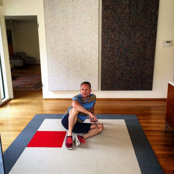 Installation of #flor rug #interiordesign