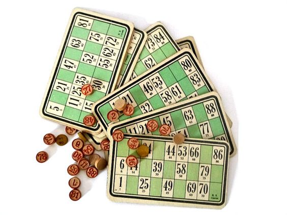 French Vintage Bingo  cards-1960's, french, ephemera,paper craft