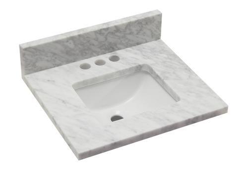 Tuscany 19 X 17 Carrara Marble Vanity Top Marble Vanity Marble Vanity Tops Carrara Marble