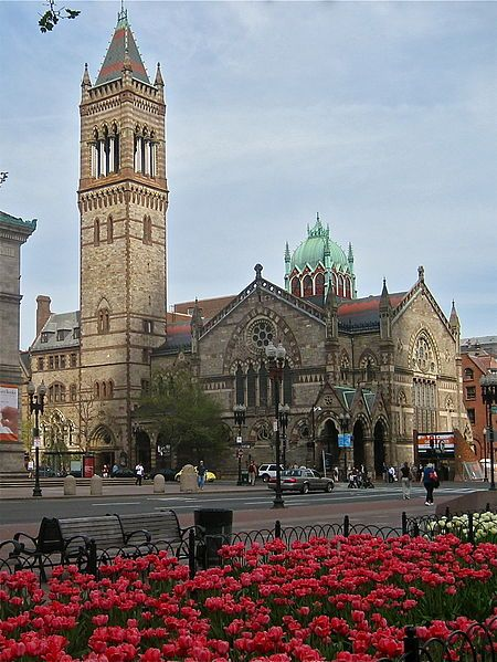 Old South Church in Boston, Massachusetts, built 1873-1875, architects Amos Cummings and Willard T. Sears; photo GearedBull