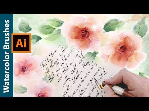 How To Draw Flowers With Watercolor Brushes For Paper Letter