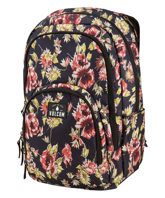 Look at this Black Floral Top Notch Backpack on #zulily today!