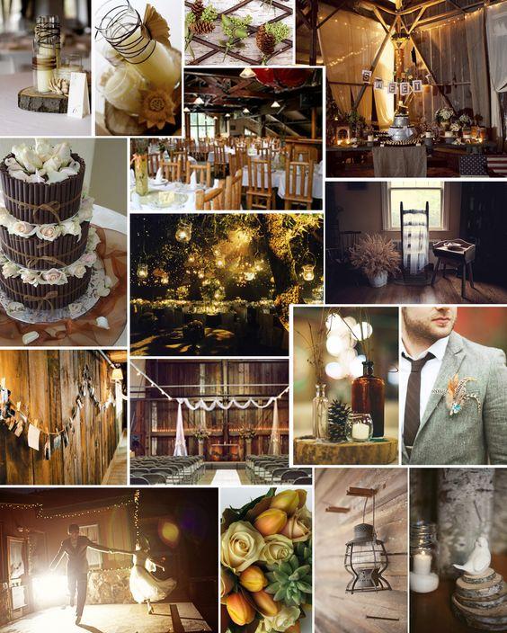 Rustic Fall Wedding Ideas: THEMED THURSDAY: COZY CABIN
