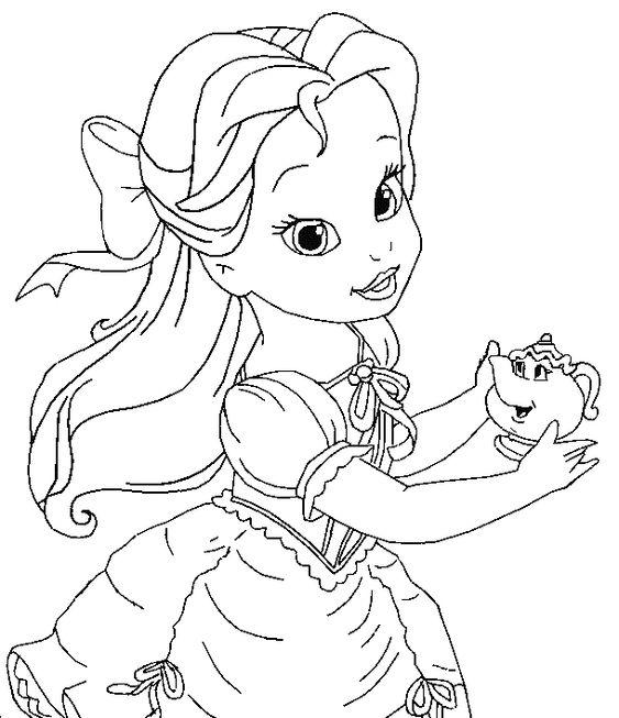 Baby Disney Princess Coloring Pages   Cute Princess ...
