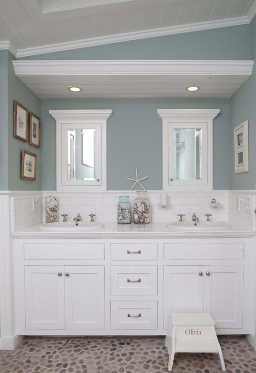 Ocean Inspired Bathroom: You don't have to part with the sea if you don't want to--dip your toes into a refreshing new project and turn your restroom into an ocean-inspired haven.