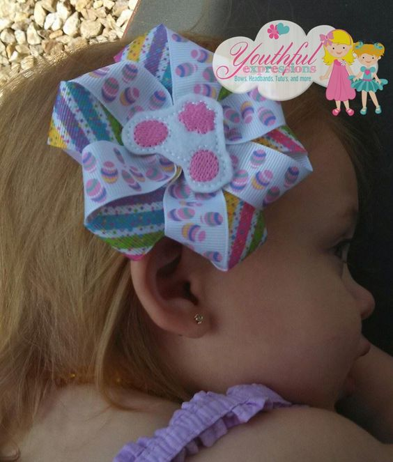 Beautiful little Easter bow! www.facebook.com/YouthfulExpressions
