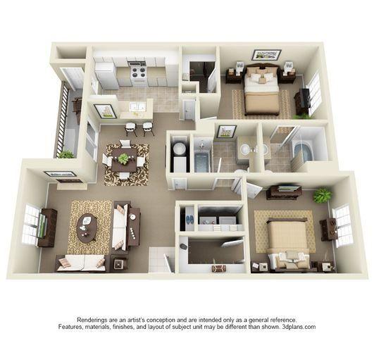 Cascade Two Bedroom Two Bathroom Floor Plan Condo Floor Plans Apartment Layout Bedroom Floor Plans