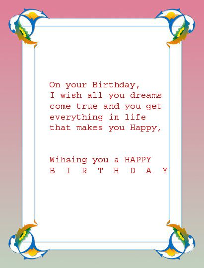 All Wishes Message Card Greeting Birthday For Your Girlfriend