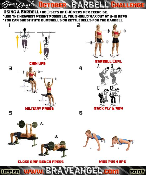 Free Weights Vs Barbell: Workout Routines, Workout And Upper Body On Pinterest