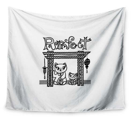 Purrfect by Jane Smith Wall Tapestry