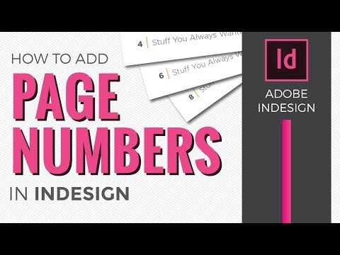 Page Numbers In Indesign Cc 2018 How To Add Using Master Pages Youtube Indesign Adobe Indesign Indesign Tutorials