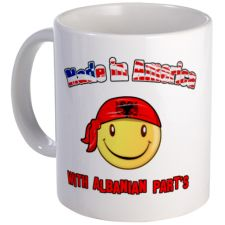 Made in America with Albanian Mug