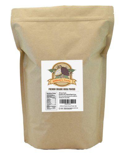 Anthony's Organic Cocoa Powder / Cacao Powder (2lb) , 100% Gluten Free - http://goodvibeorganics.com/anthonys-organic-cocoa-powder-cacao-powder-2lb-100-gluten-free/
