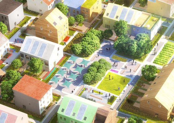 traumhaus fabrik mvrdv planen siedlung in mannheim. Black Bedroom Furniture Sets. Home Design Ideas