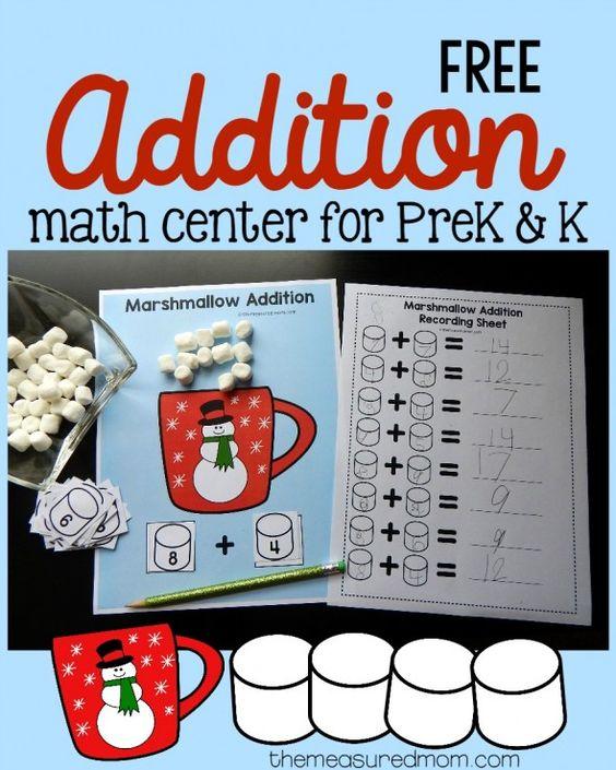 Free preschool & kindergarten addition activity | Activities ...