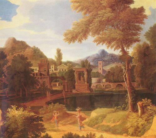 Imaginary Landscape -  Jean-Francois Millet (he was also know as Francisque Millet) (1642–1679) -a Flemish painter