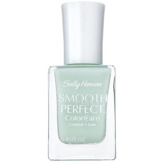 Sally Hansen Smooth & Perfect Nail Color ($5.24) ❤ liked on Polyvore featuring beauty products, nail care, nail polish, nail, nail polish & removers, sea, sally hansen nail color, sally hansen, sally hansen nail polish and sally hansen nail care