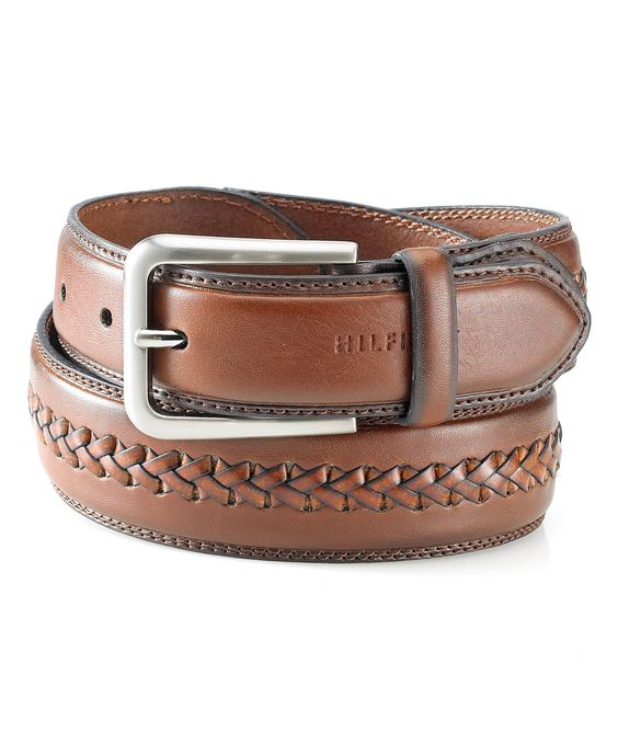 Tommy Hilfiger Big & Tall Tapered Center-Laced Belt