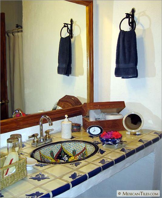 Mexican Sinks Bathroom: Bathroom Countertop With Fly Talavera