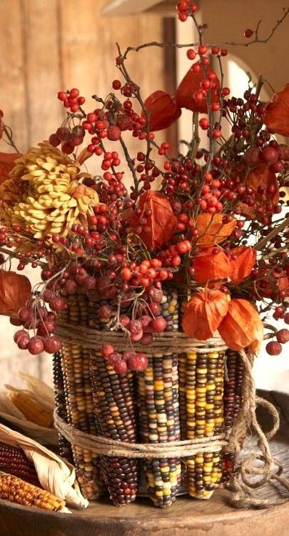 <3 fall centerpiece....:
