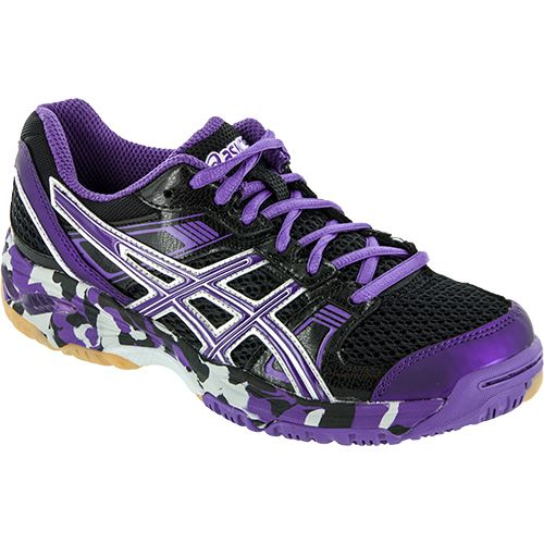 asics shoes womens purple black