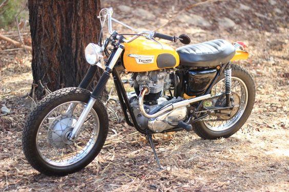 1971 Triumph Tr6 650cc Desert Sled Tattoos That I