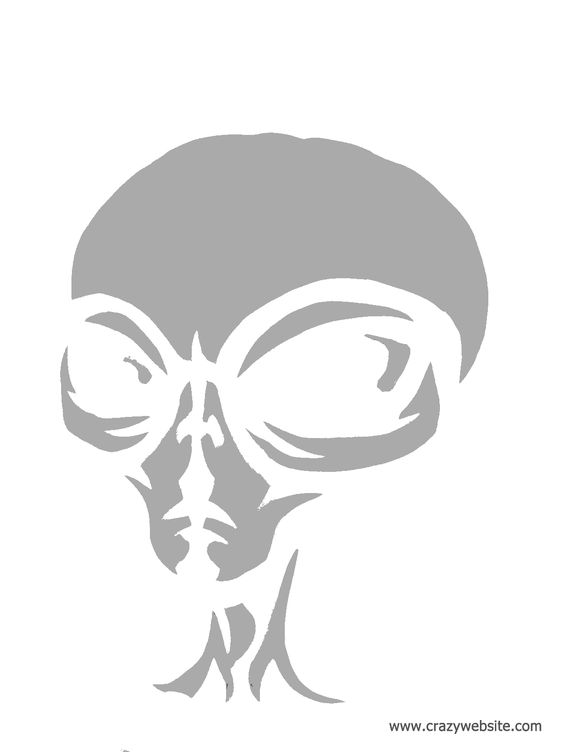 The grey pumpkins and aliens on pinterest for Alien pumpkin pattern