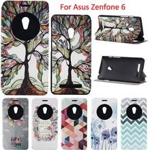 For Asus Zenfone 6 Covers Fashion Design View Window Luxury Leather Cell Phone Flip Cover Case For ASUS Zenfone 6 Protective Bag
