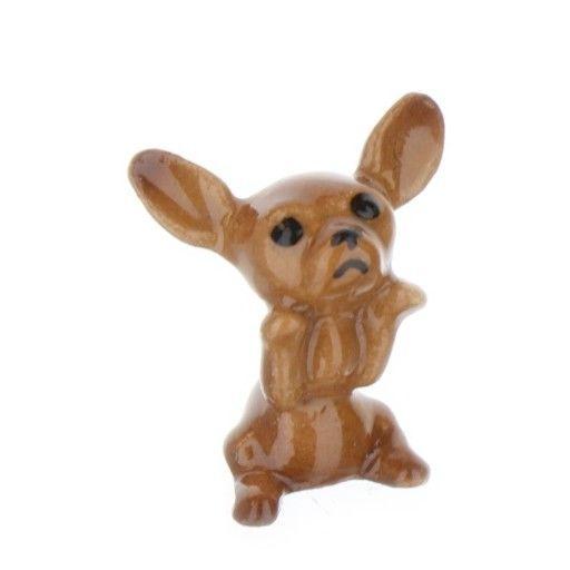 Hagen Renaker Dog Chihuahua Tiny Puppy Black Tan Ceramic Figurine Tiny Puppies Porcelain Dog Animal Figurines