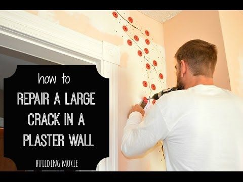 How To Repair A Large Crack In Plaster Home Plaster