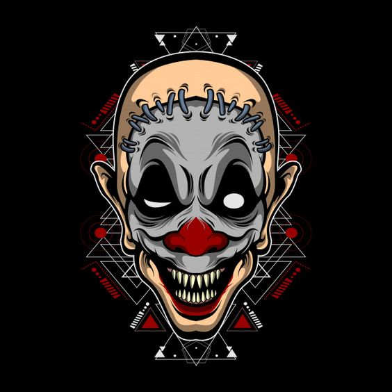Monster clown Premium Vector | Premium Vector #Freepik #vector #party #design #halloween #hand