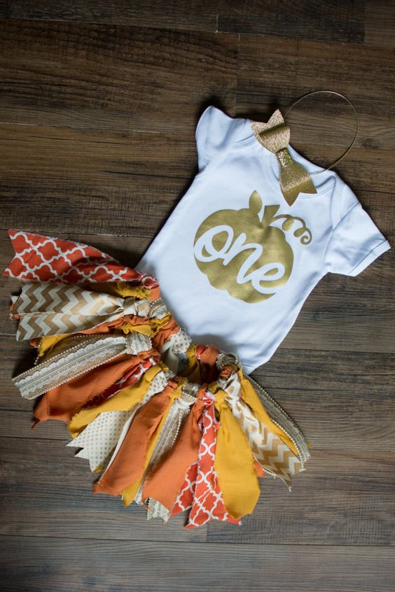 Fall first birthday outfit first birthday tutu by SweetlyCarolina