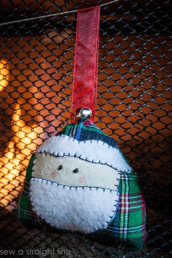 santa face ornaments sew a straight line-1-2