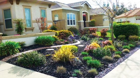 contemporary front yard desert landscaping ideas on a budget garden ideas pinterest. Black Bedroom Furniture Sets. Home Design Ideas