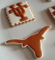 Pretty UT Longhorn cookies - simple, yet gorgeous!
