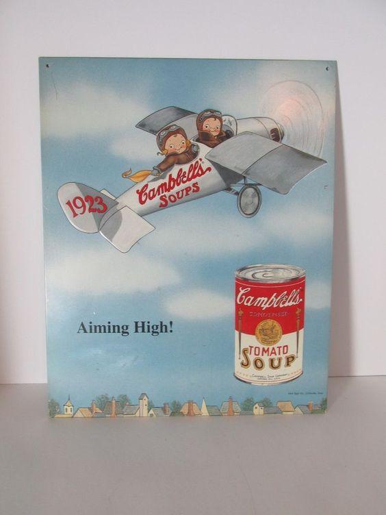 Campbells Soup Kids Nostalgic Advertising Sign #6 Of A Series Of 20  1993 #CampbellsSoup